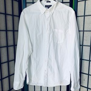 J. Crew mercantile White button up oxford sz L